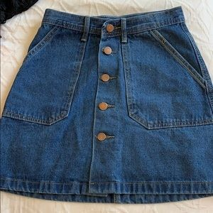 Blue Jean skirt with bronze buttons